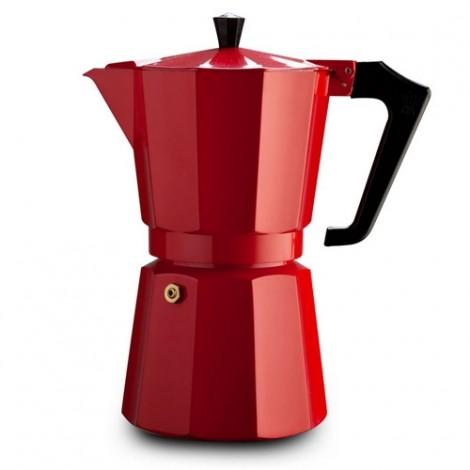 Kavinukas Espresso kavai 9 puodeliams Ghidini Pezzetti, raudonas