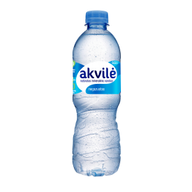 AKVILĖ natūralus mineralinis vanduo, negazuotas 0.5 L