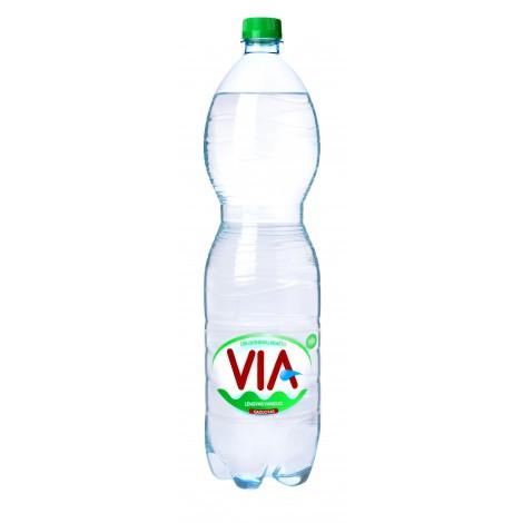 Lengvai gazuotas stalo vanduo VIA, 1.5 L