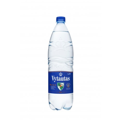 Gazuotas natūralus mineralinis vanduo VYTAUTAS, 1.25 L